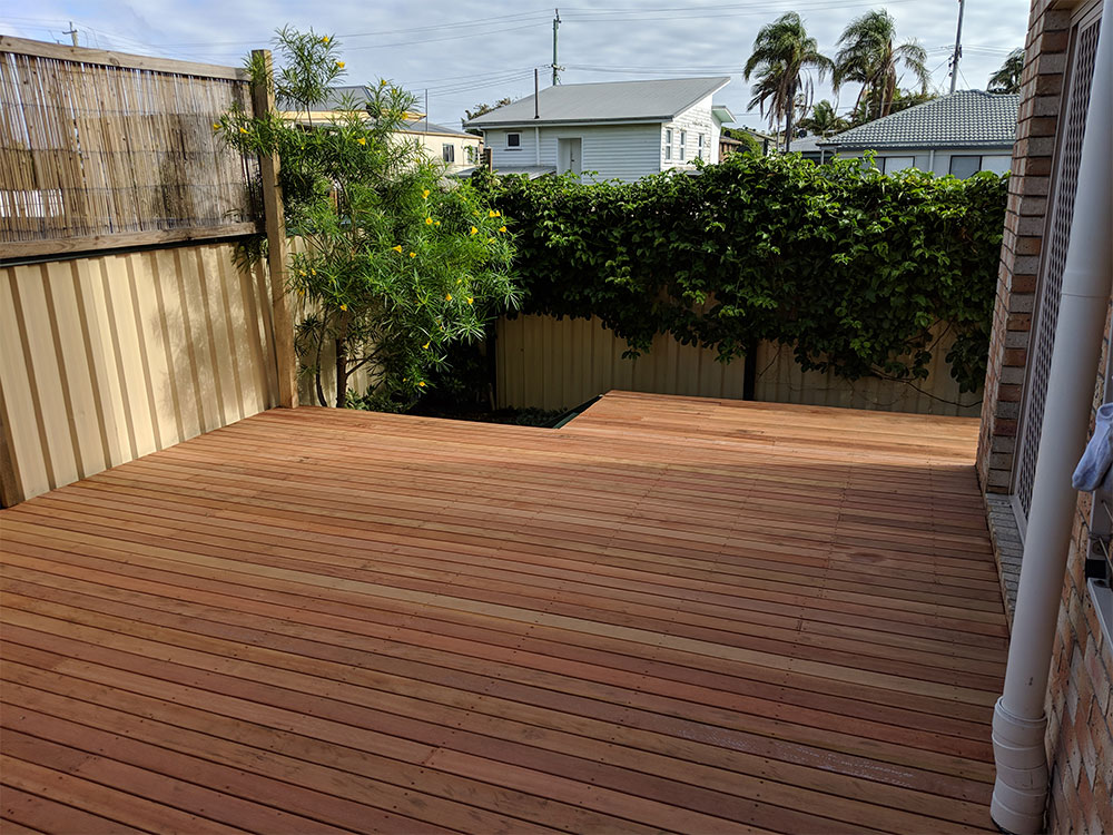 Unvarnished decking solution for a local client
